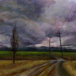 Cloudy Oregon Day - Acrylic Paint
