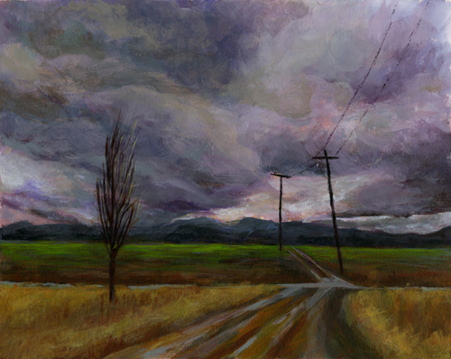 Cloudy Oregon Day - Acrylic Paint