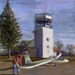 Ann Arbor Airport - Pastel Painting