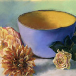 Blue Bowl with Flowers - Pastel