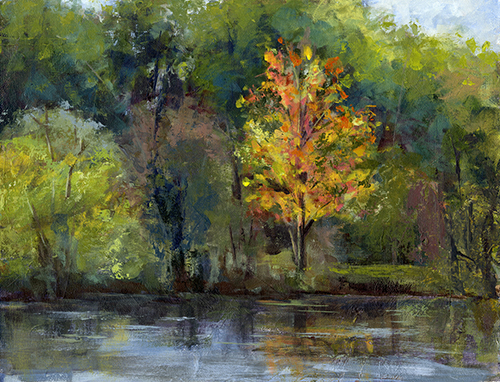 Fall Colors, Gallup Park - Acrylic