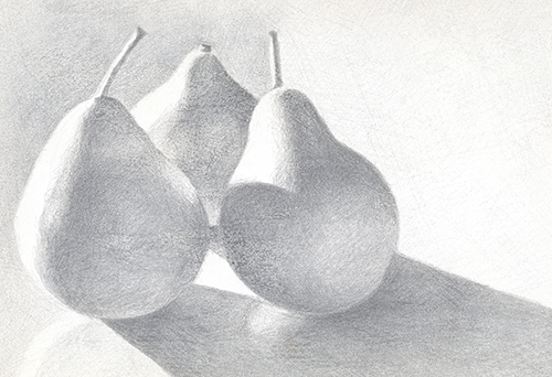 Pear Trio - Silverpoint