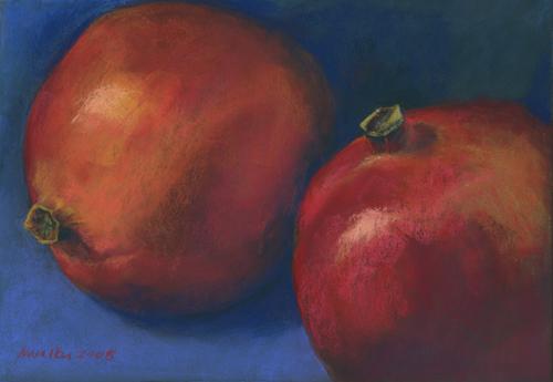 Pomegranates - Pastel