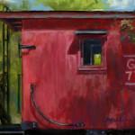 Red Caboose - Pastel