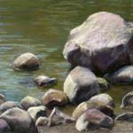 River Rocks I - Pastel