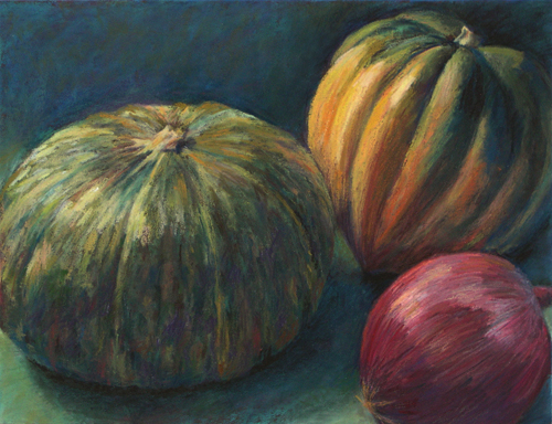 Squash and Onion - Pastel