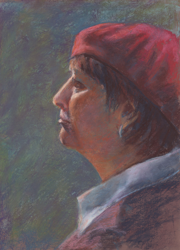 The Red Beret - Pastel