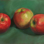 Three Apples - Pastel