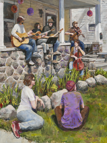 Water Hill Music Festival - Acrylic Painting