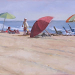 Five Umbrellas - Oil Painting
