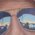 """Double Vision 15"""" x 30"""" Acrylic Painting"""