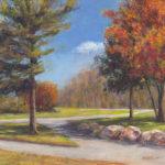 Sunny Autumn Day 11x14 Acrylic